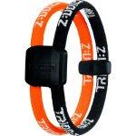 Náramek TRION:Z Dual černo-oranžová M