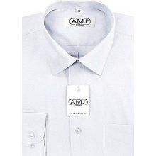 AMJ Slim pánská společenská košile s dvojitou manžetou Bílá
