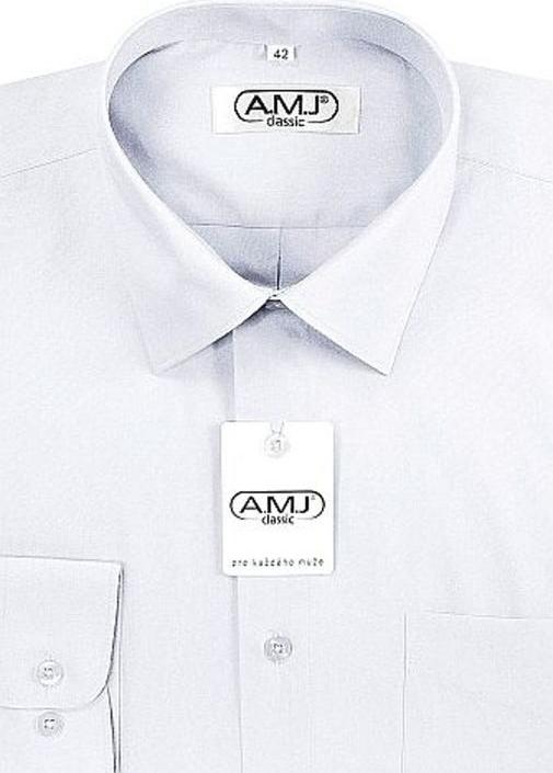1b9c9d90365 AMJ Slim pánská společenská košile s dvojitou manžetou Bílá alternativy -  Heureka.cz