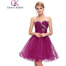 031daee74aa Grace Karin Fialové společenské šaty koktejlky CL4503-5 Fialová ...