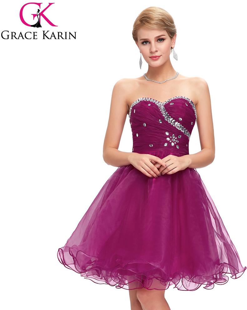 48f4eff4cdd Grace Karin Fialové společenské šaty koktejlky CL4503-5 Fialová alternativy  - Heureka.cz