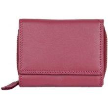 kvalitní kožená peněženka HMT kompaktní růžová