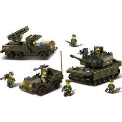 Sluban B6800 Sada armádních vozidel 602 dílů