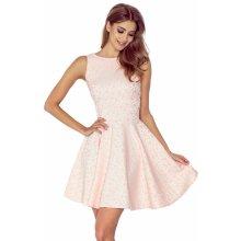 77920ded7f7f Numoco společenské a plesové exkluzivní šaty s kolovou sukní broskvová