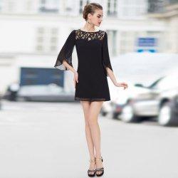 Krátké společenské šaty s 3 4 rukávem retro černá alternativy ... c5a3ffcb994