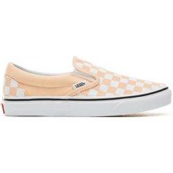 5dd3aa49728 Dámská obuv Vans CLASSIC SLIP-ON CHECKERBOARD BLEACHED APRICOT TRUE WHITE