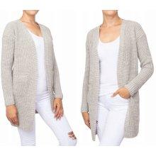 8c6dcde33d0 Fashionweek Stylový pletený cardigan jak sako který zaručene zahřeje  NB02 5852 Béžový