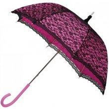 Dámský krajkový deštník Romance- růžový