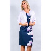 Color collection Dámské šaty s fialkovým bolerkem 22ccea3f5d
