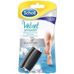 Scholl Velvet Smooth Diamond náhradní hlavice jemná 1 kus + extra hrubá 1 kus