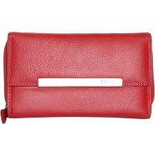 Červená velká kvalitní kožená peněženka HMT