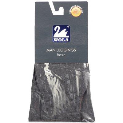 Hladké pánské bavlněné podvlékací kalhoty tmavě šedá