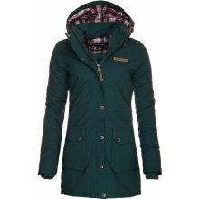 Alpine Pro Edite 3 dámský kabát zelená/tyrkysová