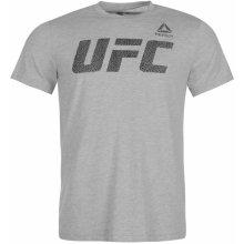 Reebok UFC T Shirt Mens GreyMarl Blk 99d563ca70