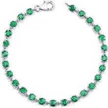 Eppi smaragdový stříbrný náramek Karly BR31910