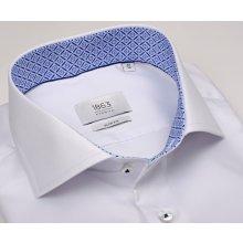 Eterna 1863 Slim Fit Twill - luxusní bílá košile s vnitřním límcem a  manžetou b11d744369
