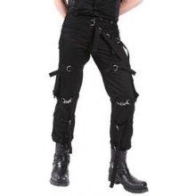 Gotické kalhoty pánské dlouhé s pásky