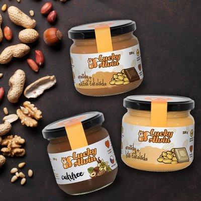 Lucky Alvin Oříškové másla Kokos, Mandle / Cukrfree 200 g