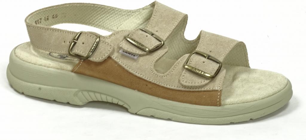 Santé N 517 46 28 47 SP pánské zdravotní sandály béžové od 695 Kč -  Heureka.cz f77935e281