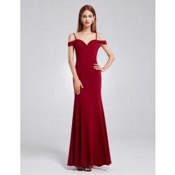 Ever Pretty dlouhé elegantní dámské šaty s odhalenými rameny EP07017BD  vínová 44361b3099