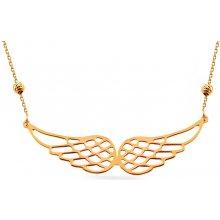 iZlato Zlatý náhrdelník Andělská křídla Design IZ15047 c862ad64e4