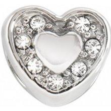 Přívěsek Morellato Drops Heart Crystals CZ126