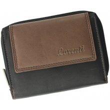 Lorenti Dámská kožená peněženka LT 12 CCF černá s hnědou
