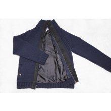 Svetrpunk Pánský Merino svetr na zip a knoflíky