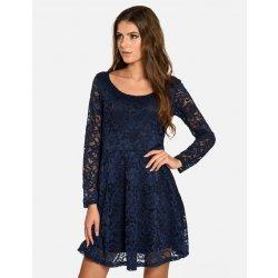 4db6fbf248f Calzanatta dámské společenské krajkové šaty 711011 tmavě modrá ...