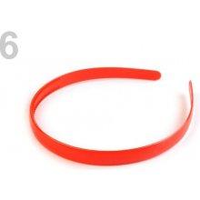 Plastová čelenka k dozdobení 1,2 cm 2. jakost červená 70ks