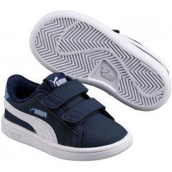 Dětská bota Puma Chlapecké tenisky Smash v2 - modré 80e99ad8234