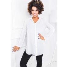 Dlouhá dámská bílá košile - 84359 bílá