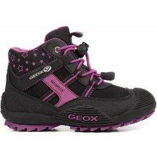 Geox Dívčí kotníkové boty Atreus - černé 611d17d5ff