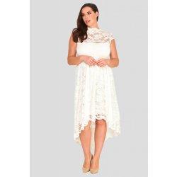 Dámské svatební šaty Krajkové asymetrické šaty Fringe ivory 494afcf4b5