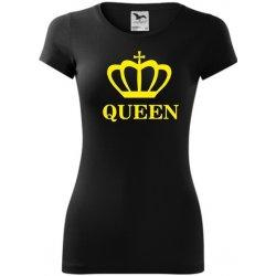 Tričko QUEEN černé ŽLUTÁ neon dámská trička - Nejlepší Ceny.cz afa76190a7