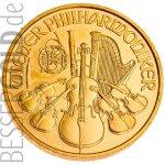 Wiener Philharmoniker Zlatá mince 1/25 oz