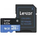 Lexar microSDHC 16GB UHS-I U1 LSDMI16GBBEU633A