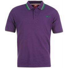 Slazenger Tipped Polo Shirt Mens Purple 68aa201a2b