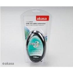 Akasa AK-CBUB02-15BK prodlužovací USB 3.0, A-male na A-female, 150cm