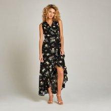 Apricot dámské zavinovací maxi šaty s potiskem černá d22f754cdd7