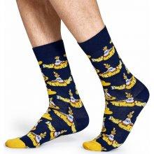 Happy Socks Modré ponožky se žlutými ponorkami 12ba145bea