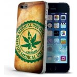 Pouzdro CELLY Cover Design Award Apple iPhone 5S Cannabis