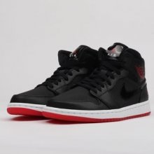 Jordan 1 Mid black   university red - white e4b82c4b88