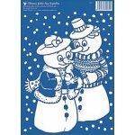 Vánoční okenní fólie sněhuláci