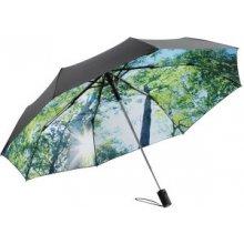 Fare Dámský skládací vystřelovací deštník s potiskem Nature Forest 5593