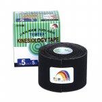 Tejpovací páska TEMTEX Kinesio Tape Classic 5 cm × 5 m černá