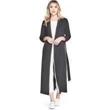 GUESS kabát Rel Duster Coat černá