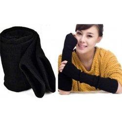 dlouhé černé pletené rukavice bez prstů F5495 od 139 Kč - Heureka.cz 06247988cf