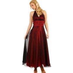 Lesklé večerní dámské šaty na ples 290402 vínová od 3 240 Kč ... 9e17278985
