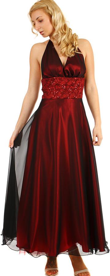 Lesklé večerní dámské šaty na ples 290402 vínová od 3 240 Kč - Heureka.cz 16a2d193bb